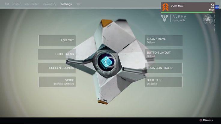 Destiny ps4 game   Menu   #ui #interface #flat #scifi #destiny #game