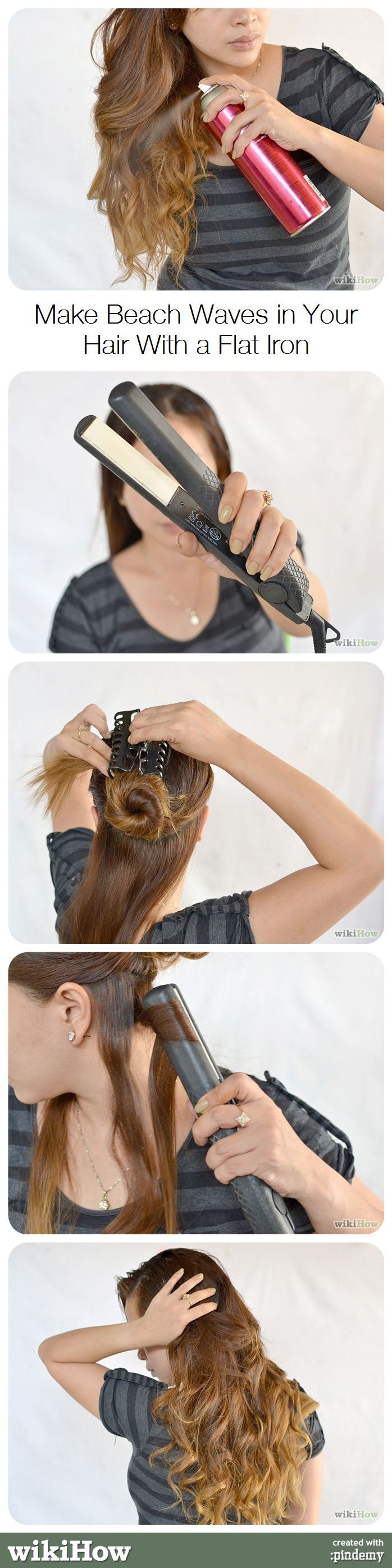 hair styling with flat iron make waves in your hair with a flat iron wavy 4928