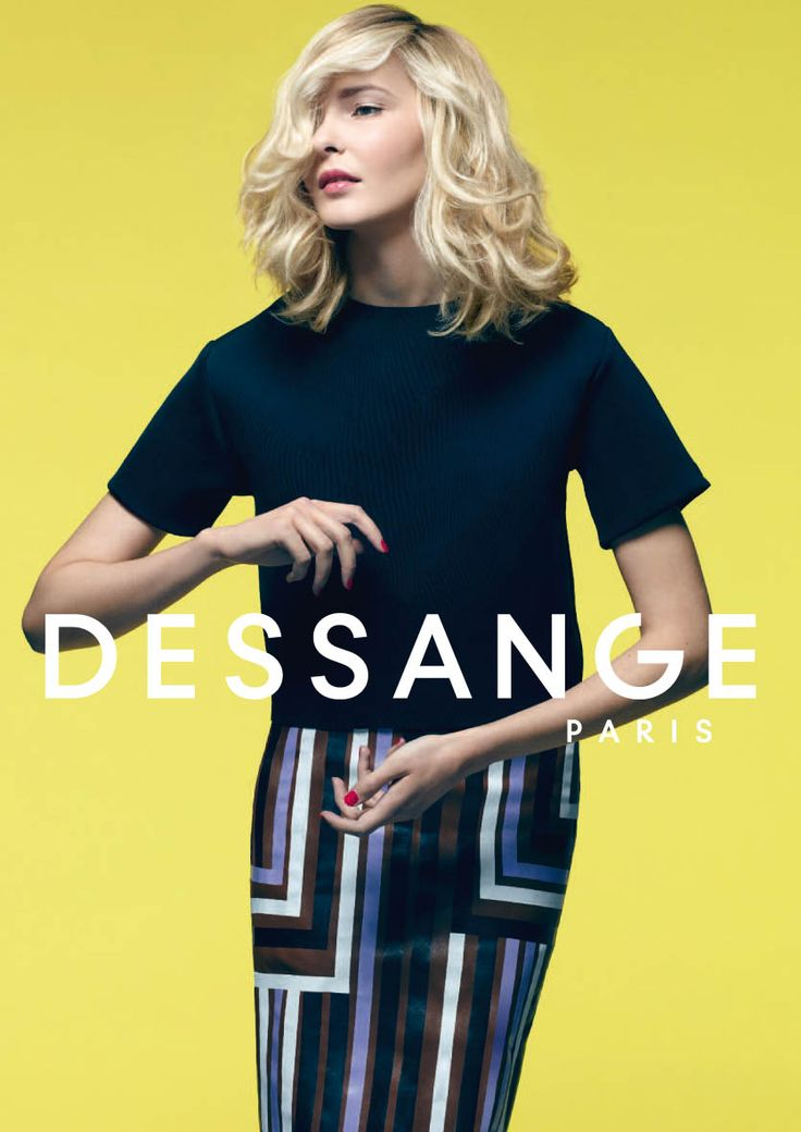 Dressy yet natural: The essential DESSANGE signature. This mid-length bob, swept with timeless DESSANGE highlights, dresses up in Californian Blond. The « Coiffé-Décoiffé » Bed Head hair is crafted lock by lock. (Photo Nicolas Valois) #dessange #springsummer2015