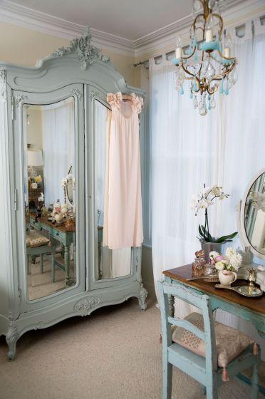 Estilo shabby chic en decoración - Dormitorio