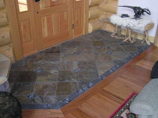 34 best entryway floor ideas images on pinterest for Cabin flooring ideas