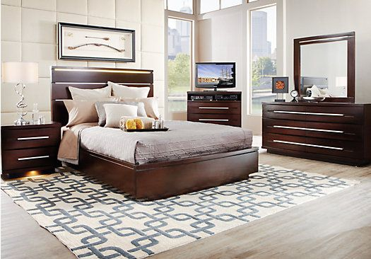 Marbella Espresso 5 Pc King Platform Bedroom | Furniture | Bedroom, Bedroom  Sets, Queen Bedroom