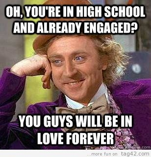 Engaged in high school: