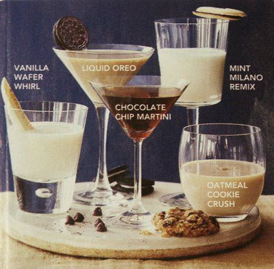 more cookie cocktails for the holidays....cant wait to make these!cocktails