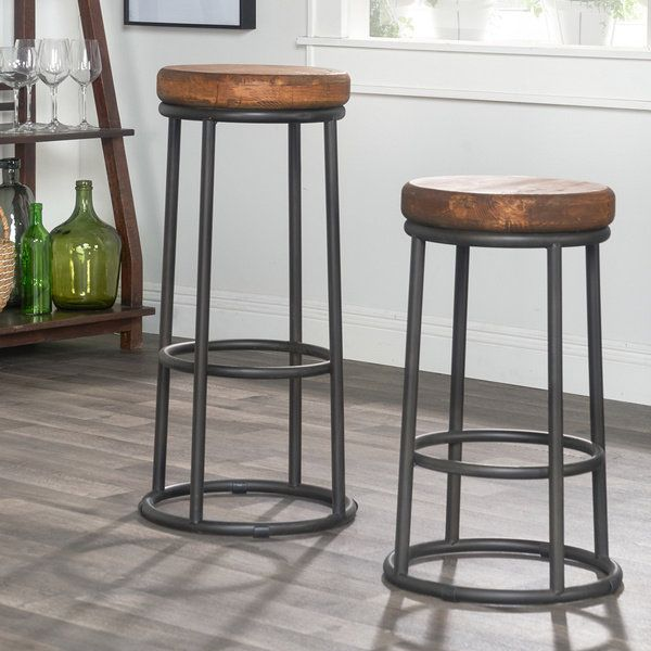 willow reclaimed wood and iron 30inch backless barstool by kosas home by kosas home