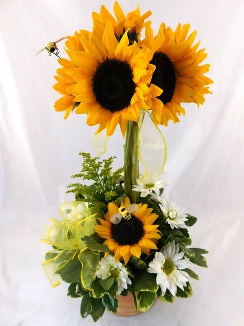 Sunflower And Bees Topiary Cumple Pinterest Floral