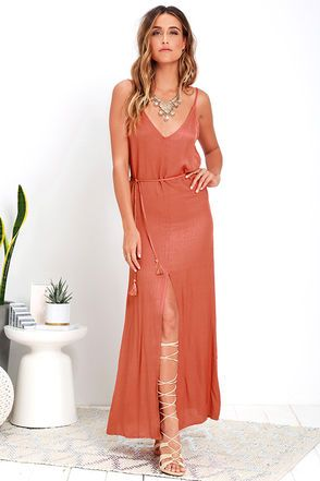 Fresh Air Burnt Orange Maxi Dress at Lulus.com!