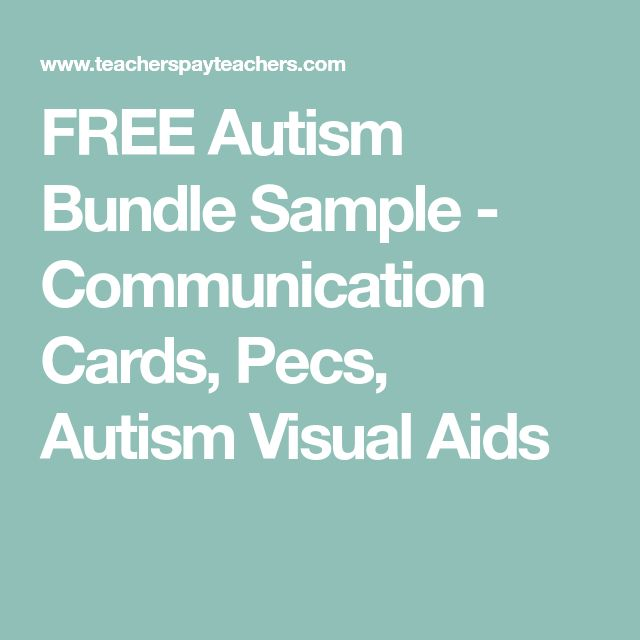 FREE Autism Bundle Sample - Communication Cards, Pecs, Autism Visual Aids