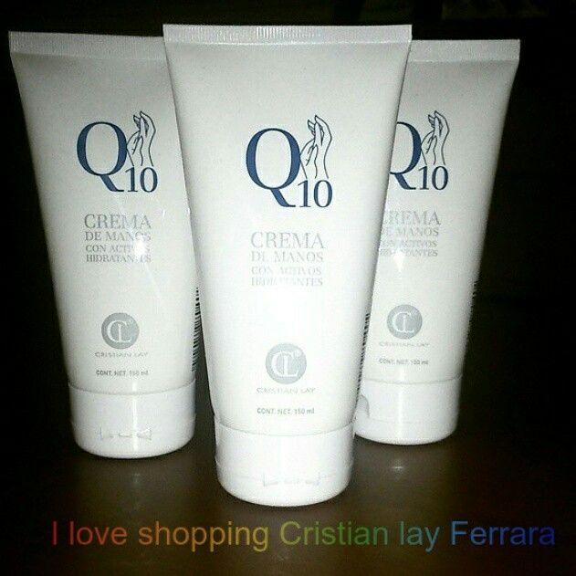 Crema mani con Q10.  Arricchita con Q10 che previene l'invecchiamento della pelle.  Contenuto : 150 ml  Euro 3.99 in offerta!  #cristianlay #iloveshoppincristianlay