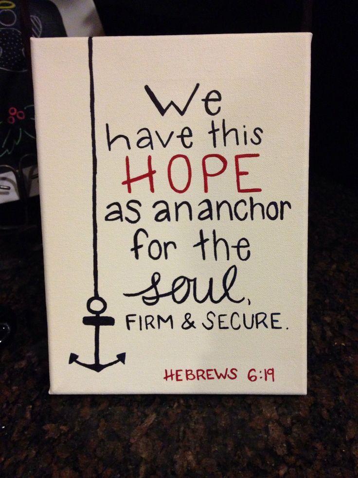 Dorm room art! Hebrews 6:19