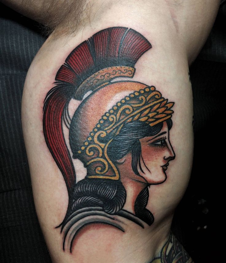 Athena by Antonio Roque, Black Label Tattoo, Frederick, MD