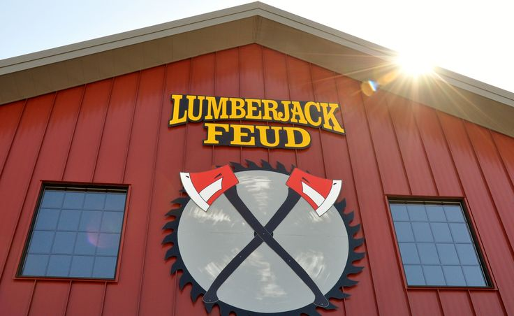 Lumberjack Feud - Looking for a great show to take the family on your Smoky Mountain Vacation? This is a great choice!