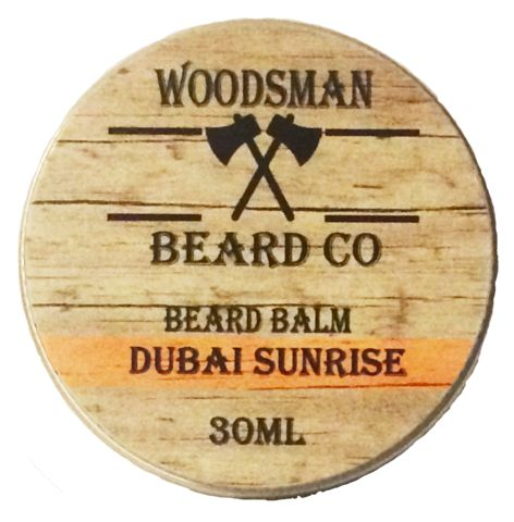 Review: Woodsman Beard Company 'Dubai Sunrise' Beard Balm . #beard #beards #balm #beardbalm #care #review #reviews #grooming #product #products