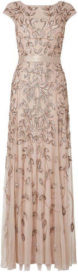 House of Fraser Phase Eight Guliana full length beaded lace dress on shopstyle.co.uk