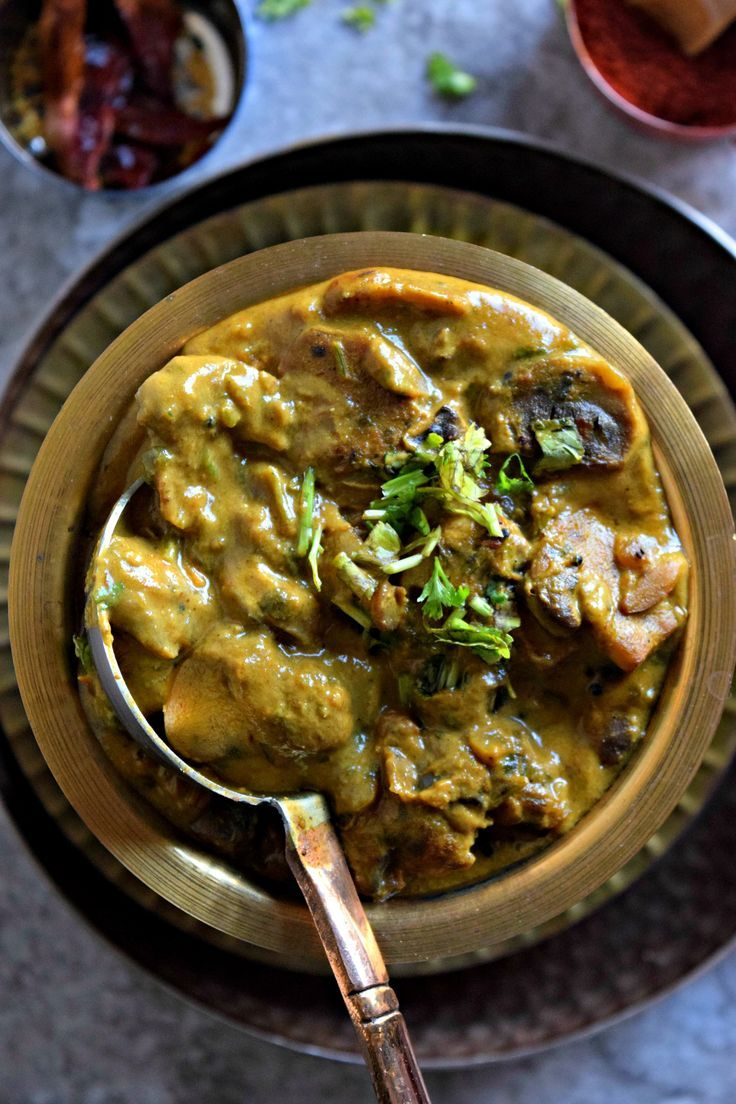 Mushrooms are the perfect substitute for meat in any vegetarian dish. This tasty Mushroom Korma is cooked in a cashew-coconut base & is vegan & gluten free.