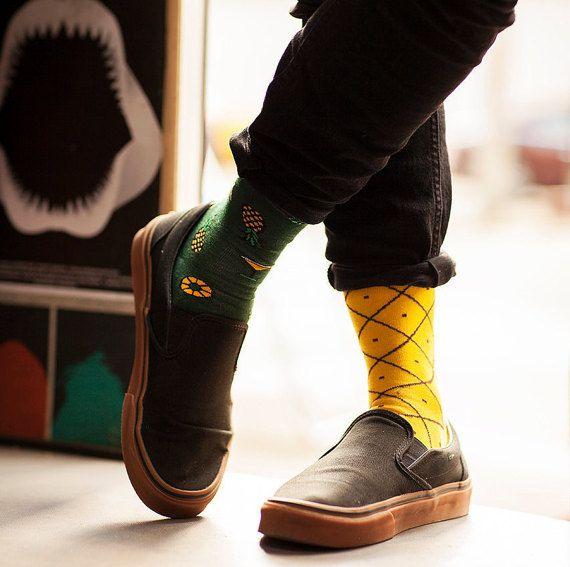 Chaussettes d'ananas  chaussettes pour hommes  par ManyMornings