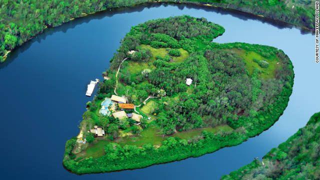 makepeace island // australia: Richardbranson, Sunshine Coast, Makepeac Islands, Heart Islands, Richard Branson, British Virgin Islands, Heart Shape, Private Islands, Tennis Court