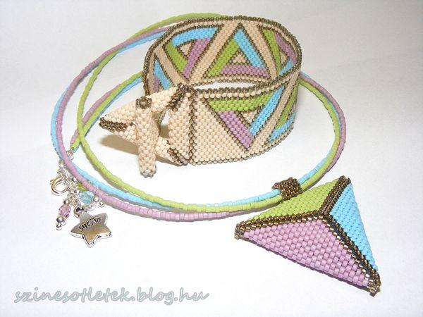 Spring collection bead jewellry (peyote stitch)