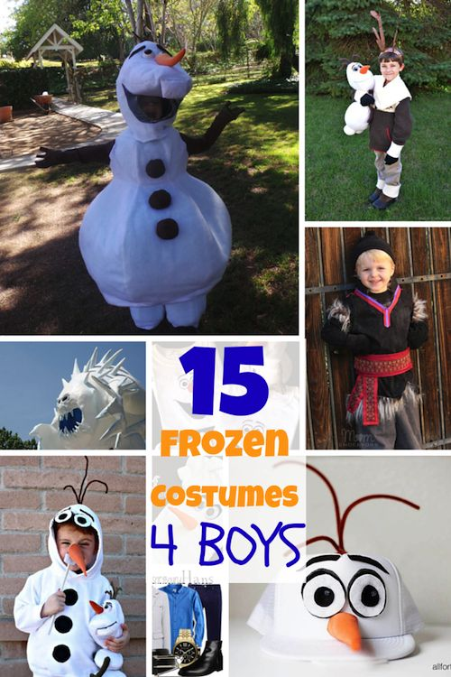 Does your little boy love Disney's Frozen too? Are you looking for Frozen costumes for boys? Check out this round for some fun DIY costume ideas!