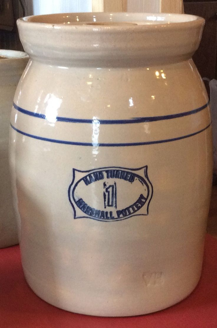 Hand Turned Marshall Pottery 1 Gallon Butter Churn