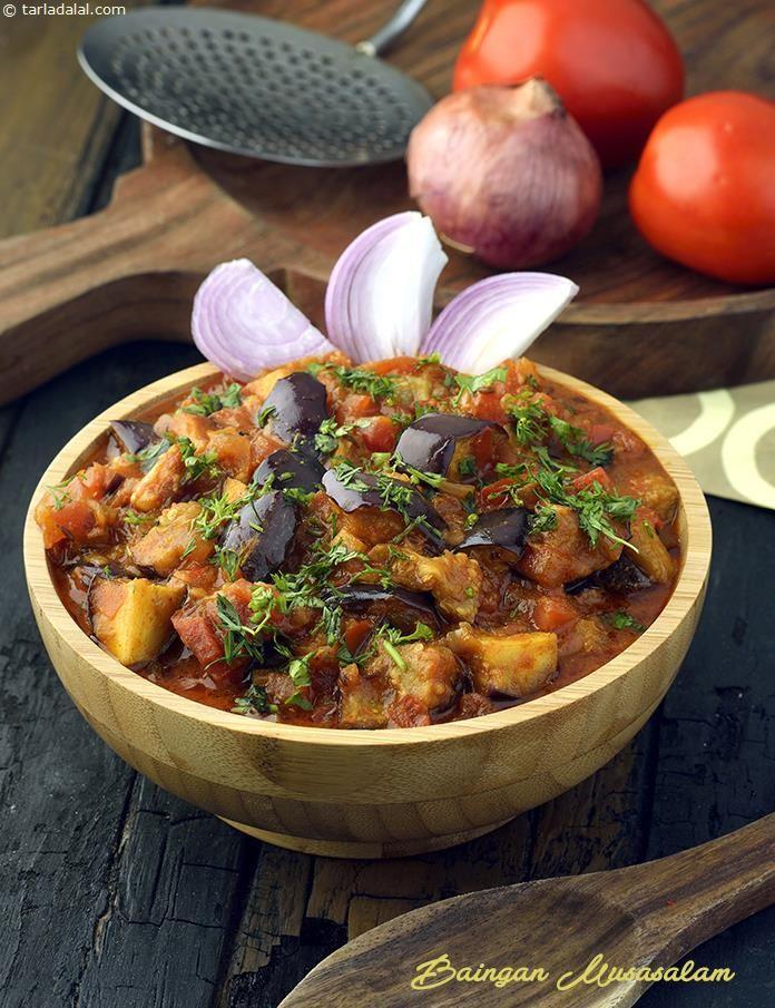 Baingan Musasalam, Mughlai Baingan Masala recipe | Mughlai Recipes | by Tarla Dalal | Tarladalal.com | #30952