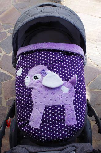 Babykrabbel-und Kinderwagendecke mit Reh - Sterndesign