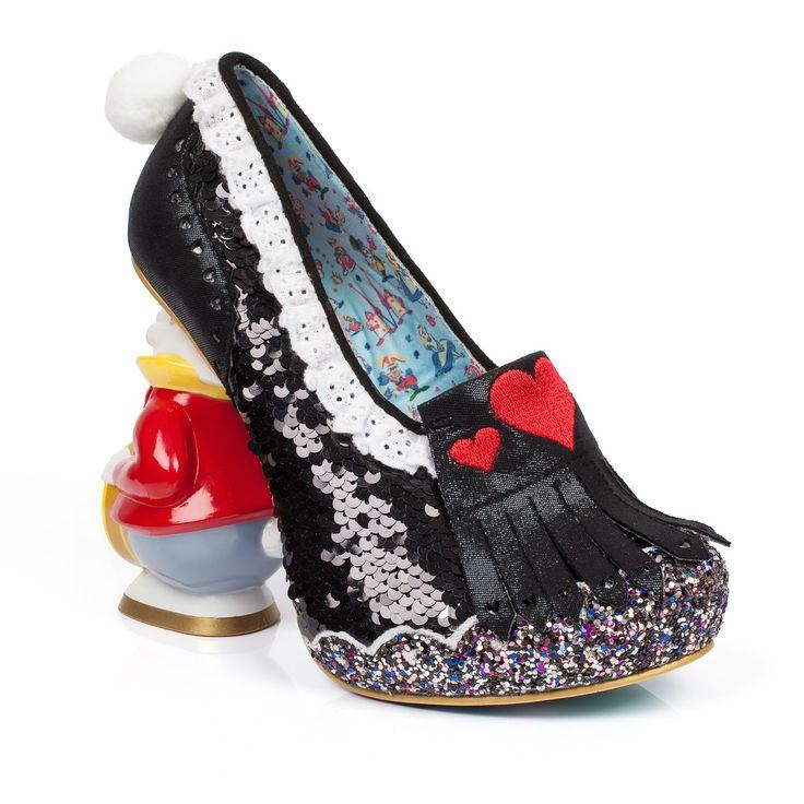 Irregular Choice for Women: Alice in Wonderland White Rabbit Heels