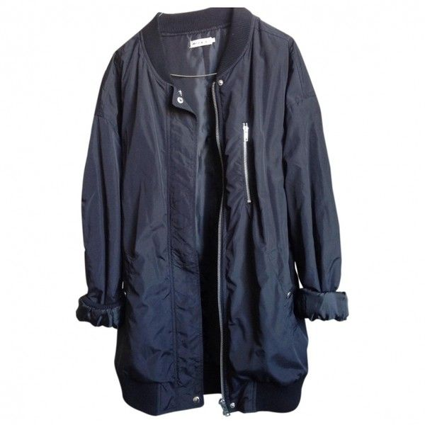Black Polyester Jacket URBAN OUTFITTERS (1.496.665 VND) ❤ liked on Polyvore featuring outerwear, jackets, tops, coats, coats & jackets, urban outfitters jacket, black jacket and urban outfitters