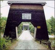See the Wire Bridge ~ a State of Maine Historic Landmark
