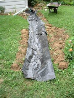 dry creek bed landscaping - Google Search good idea to run water down it before adding rocks to verify no low 'pooling' areas
