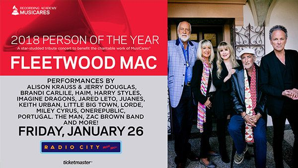 Win a Pair of Tickets to See Fleetwood Mac Be Honored at the