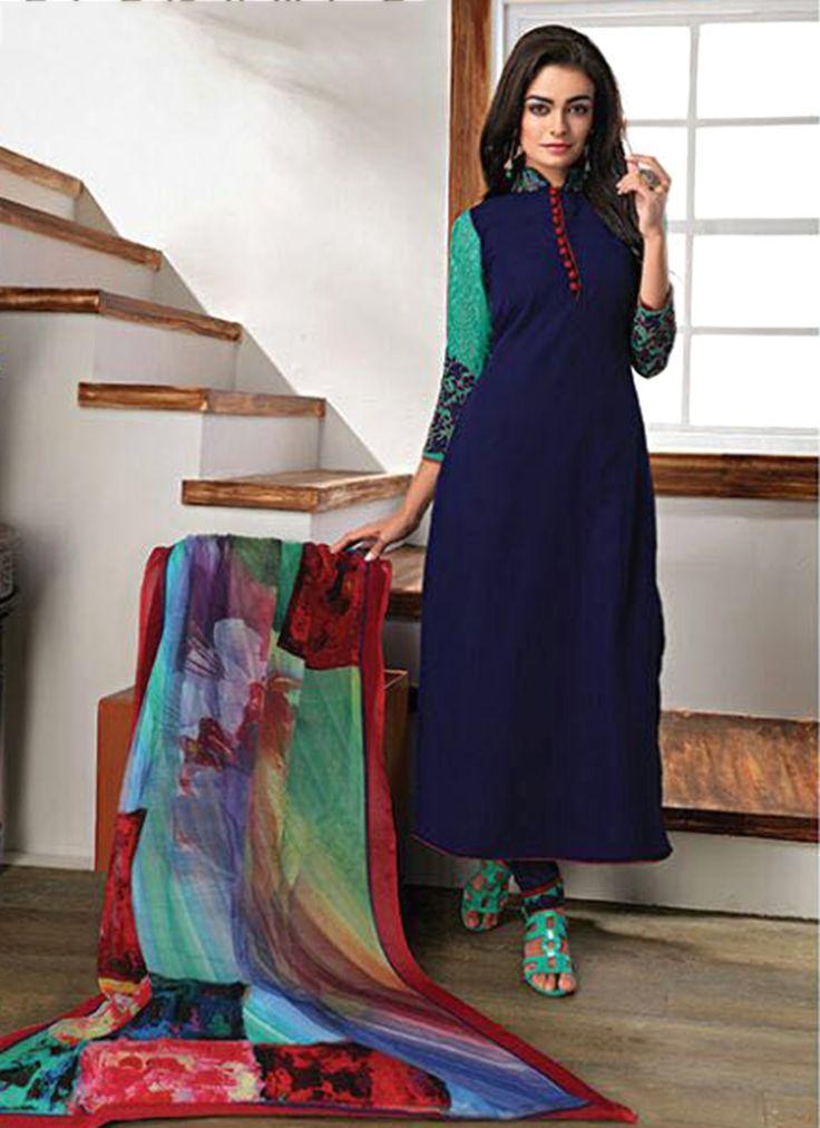 Congenial Faux Georgette Churidar Designer Suit