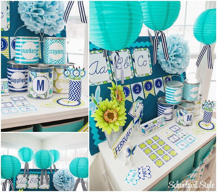 Classroom Decor And Organization ~ Paisley turquoise blue and green classroom
