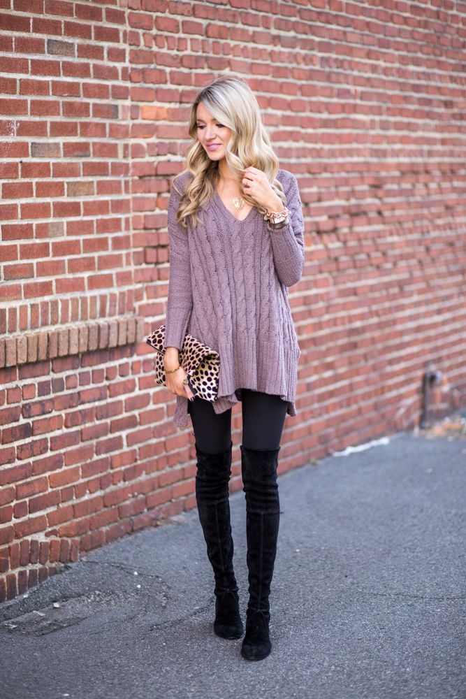 25+ best ideas about Sweaters And Leggings on Pinterest | Red spring dresses Boots and leggings ...