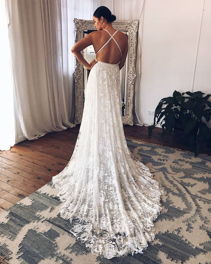 """3,465 Likes, 11 Comments - Grace Loves Lace (@grace_loves_lace) on Instagram: """"It's all about that exclusive abstract rose embroidery! Our MEGAN gown in our GC Showroom.…"""""""