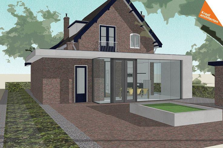 Moderne uitbreiding vrijstaande woning kraal architecten for Moderne vrijstaande woning