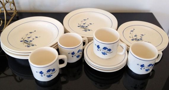 Vintage Oxford Plates Bowls Cups and by MollysEclecticarium