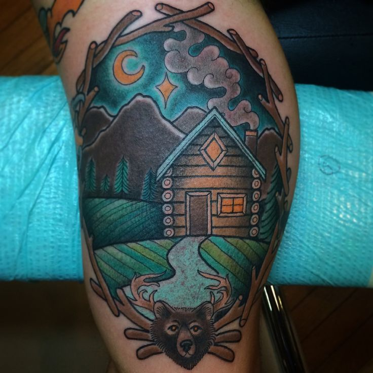 A skylines landscapes mountains buildings a for Atomic tattoo lakeland fl