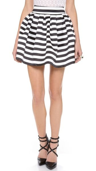 A+O box pleat skirt stripes + full + short