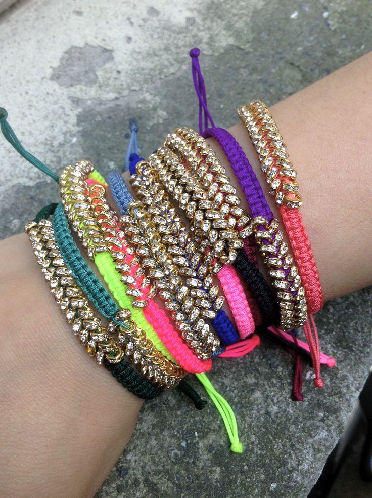 Crystal Bracelets in Neon!