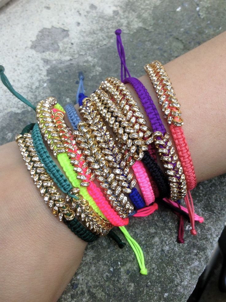 Crystal Bracelets in Neon!