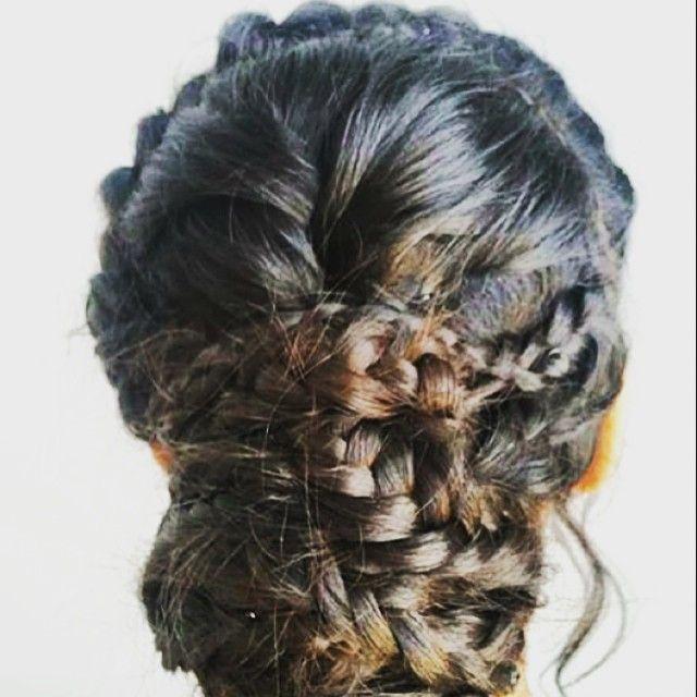 """Braids, braids & more braids! Graduation gorgeousness #hairbygez #hair #braids #braid #braidideas #hairup"" Photo taken by @blush_bar on Instagram, pinned via the InstaPin iOS App! http://www.instapinapp.com (11/27/2015)"