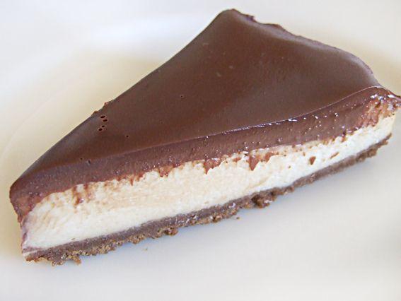 Gebakken cheesecake met chocolade ganache   Nombelina's Foodblog