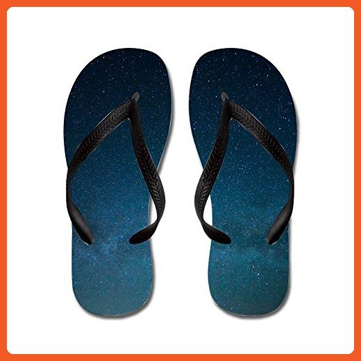 Lplpol Customized Universe Celestial Star Lightweight Rubber Durable Summer Beach Flip Flops,Funny Thong Sandals, Beach Sandals Adults S Black - Sandals for women (*Amazon Partner-Link)