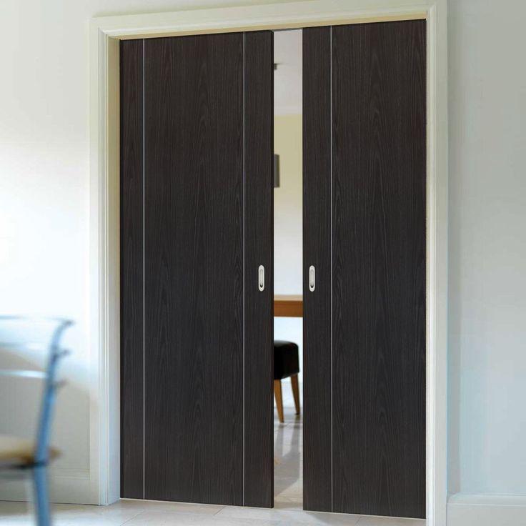 Double Pocket Eco Argento Ash Grey sliding door system in three sizes. #pocketdoor #internalpocketdoors #doublepocketdoors