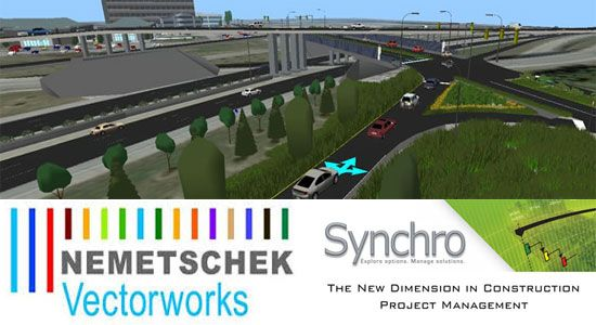 Nemetschek Vectorworks, Inc. and Synchro Software have teamed up to offer superior collaboration & interoperability solution: http://www.bimoutsourcing.com/nemetschek-vectorworks-inc-and-synchro-software-have-teamed-up-to-offer-superior-collaboration-and-interoperability-solution.html