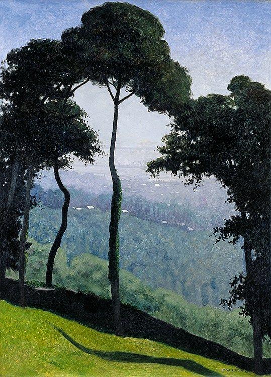 Félix Vallotton (1865 - 1902), View at Honfleur, summer morning (Vue d'Honfleur, matin d'été), 1910, Kunsthaus Zürich, Swithzerland