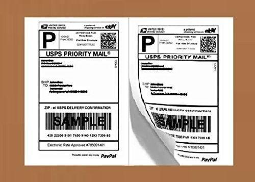 Self Adhesive Shipping Labels Half Sheet Inkjet Printer Permanent 200 Count Pack #FireSkyGifts