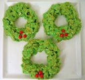 Cornflake Wreaths. . . can't believe I haven't already pinned!!