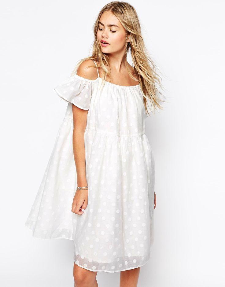 Изображение 1 из Платье в горошек со спущенными плечами Little White Lies